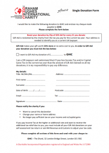 Gift Aid Form